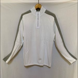 DKNY Jeans Cotton Sweater White Large